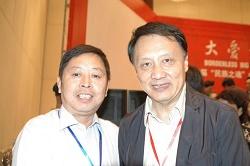 中国美协副主席王明明与张惠民画家合影